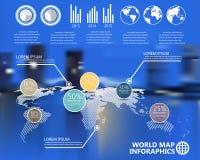 Carte du monde sur le fond de tache floue Image libre de droits