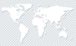 Carte du monde sur le fond transparent
