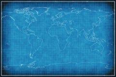 Carte du monde sur le modèle. illustration de vecteur