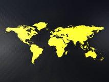 Carte du monde sur une surface Photo stock