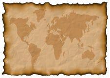 Carte du monde vieille Photos stock