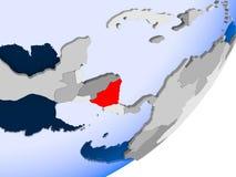 Carte du Nicaragua Photographie stock