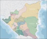 Carte du Nicaragua image libre de droits