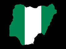 Carte du Nigéria Photographie stock libre de droits