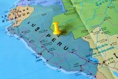 Carte du Pérou Images stock