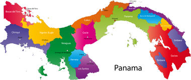 Carte du Panama Photo stock