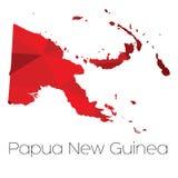 Carte du pays de la Papouasie-Nouvelle-Guinée Photos libres de droits