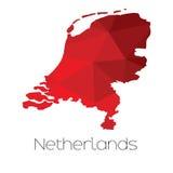 Carte du pays des Pays-Bas Photos stock