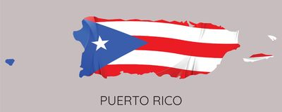 Carte du Porto Rico illustration de vecteur