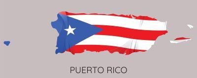 Carte du Porto Rico illustration de vecteur