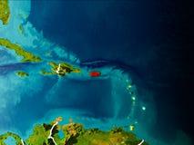Carte du Porto Rico sur terre Photo libre de droits