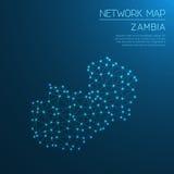 Carte du réseau de la Zambie Images libres de droits