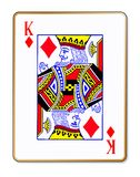 Carte du Roi Diamonds Isolated Playing illustration libre de droits