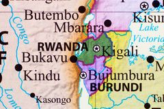 Carte du Rwanda illustration libre de droits