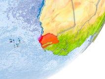 Carte du Sénégal sur terre Photo libre de droits