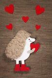 Carte du ` s de Valentine avec des coeurs Photos libres de droits