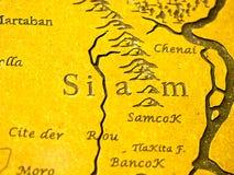 Carte du Siam Photographie stock