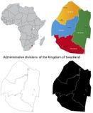 Carte du Souaziland Image libre de droits