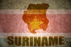 Carte du Surinam de vintage Image stock