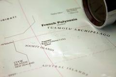 Carte du Tahiti photographie stock libre de droits
