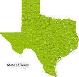 Carte du Texas Photographie stock