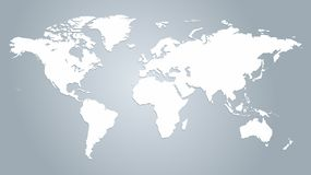 Carte du vecteur du monde illustration de vecteur