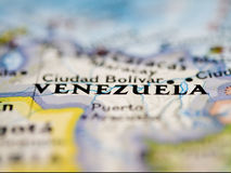 Carte du Venezuela Photo stock