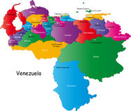 Carte du Venezuela illustration de vecteur