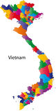 Carte du Vietnam Photos stock