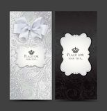 Carte eleganti con progettazione floreale Fotografia Stock