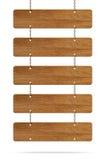Carte en bois de signe Image libre de droits