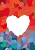 Carte en forme de coeur Photos stock