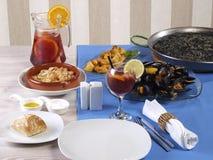 Carte espagnole de déjeuner Photo libre de droits