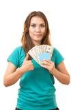 Carte et argent Image libre de droits