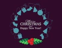 Carte et fond de Noël Image stock