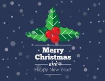 Carte et fond de Noël Photographie stock libre de droits