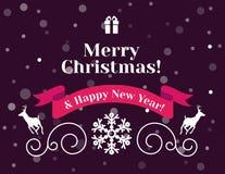 Carte et fond de Noël Images stock