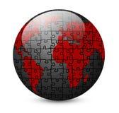 Carte et globe du monde d'isolement sur le blanc illustration de vecteur