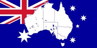 Carte et indicateur de l'Australie illustration libre de droits