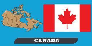 Carte et indicateur du Canada illustration stock