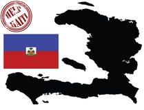 Carte et indicateur du Haïti illustration stock