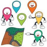 Carte et marqueur de carte Image libre de droits