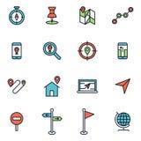Carte et navigation Image stock