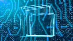 Carte et nombres carrés de Matrix Photo stock