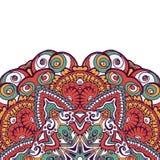 Carte ethnique ornementale colorée avec le mandala Images libres de droits