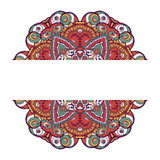 Carte ethnique ornementale colorée avec le mandala Photo libre de droits