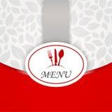 Carte för meny för vecteur för kökklistermärkerestaurang Arkivbild