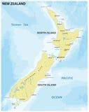 Carte facile du Nouvelle-Zélande illustration libre de droits
