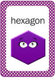 Carte flash imprimable de forme de bébé, hexagone Photos stock