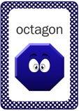 Carte flash imprimable de forme de bébé, octogone Photos stock